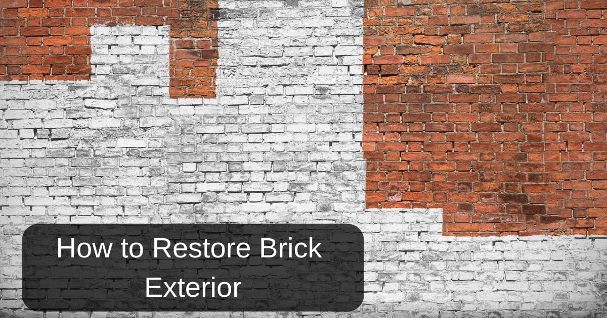How to restore or clean brick exterior wall basildon stone - How to clean brick house exterior ...